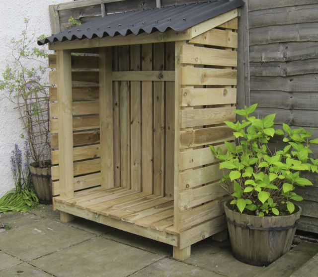 WoodKind:: We make log stores in Glasgow Wood store wood shed